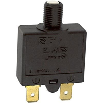 E-T-A Circuit Protection and Control 1658-G21-01-P10-5A , Circuit Breaker; Therm; Push; Cur-Rtg 5A; Flange; 1 Pole; Vol-Rtg 240/28VAC/VDC