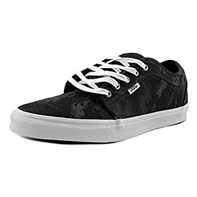 Vans Mens Chukka Low Charcoal/Black Ankle-High Canvas Skateboarding Shoe - 6.5M (6.5)