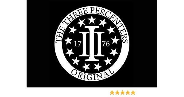 DecalDestination Three Percenter 1776 Decal White Choose Size