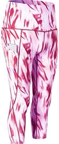 ハイウエストポケットクロップドスウェットパンツとフルレングスヨガパンツ - ヨガフィットネスパンツを実行している女性のフィットネススポーツジム (Color : 3, Size : M)