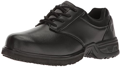 Propét Men's Sergio Work Shoe, Black, 8 M US