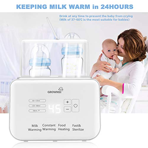 41LGTRRMeRL - Baby Bottle Warmer, Bottle Sterilizer 6-in-1Fast Baby Food Heater&Defrost BPA-Free Warmer With LCD Display Accurate Temperature Control For Breastmilk Or Formula