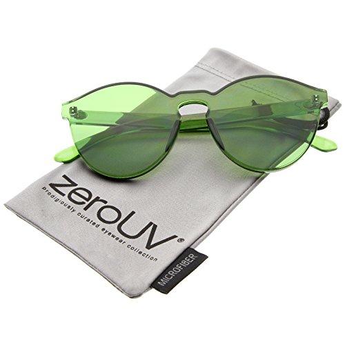 zeroUV - One Piece PC Lens Rimless Ultra-Bold Colorful Mono Block Sunglasses 60mm - Monoblock Sunglasses Rimless
