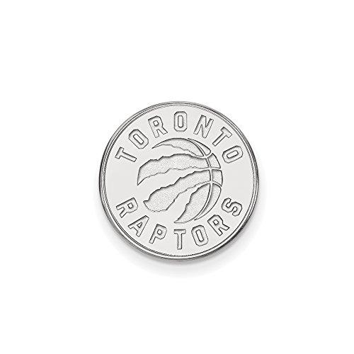 NBA Toronto Raptors Lapel Pin in 14K White Gold by LogoArt