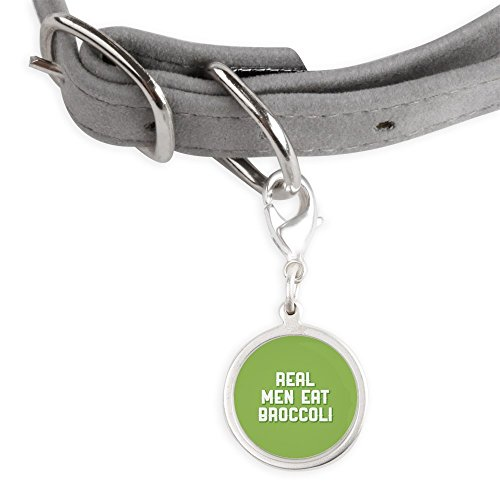 CafePress Real Men Eat Broccoli - Small Round Pet Tag by CafePress