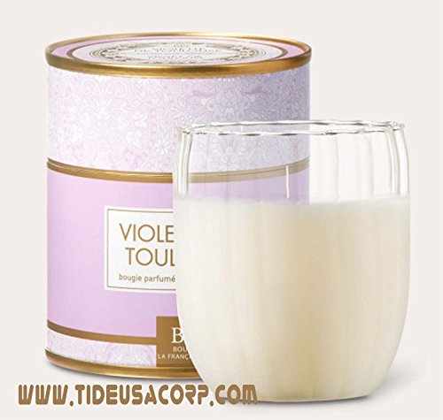 French Violet Flower scented candle Bougies La Francaise