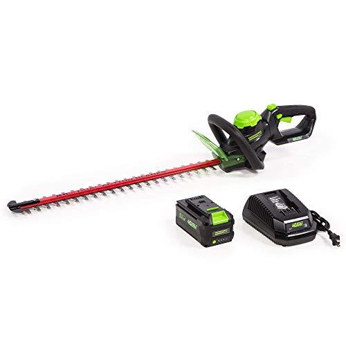 Greenworks 24-Inch 40V Cordless Hedge Trimmer, 3Ah Battery, HT-240 (Renewed)