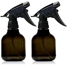 Empty Smoke colored Spray Bottles - 2 Pack, 8 Oz Refillable Sprayer for Essential Oil, Water, Kitchen, Bath, Beauty, Hair, and Cleaning - Durable Trigger Sprayer with Mist & Stream Modes