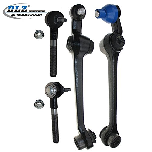 DLZ 4 Pcs Kit-2 Control Arm & Ball Joint, 2 Outer Tie Rod Ends for 1999 2000 2001 2002 2003 2004 Chrysler 300M, 1998-2004 Chrysler Concorde/Intrepid, 1999-2001 Chrysler LHS, 1998-2004 Dodge Intrepid