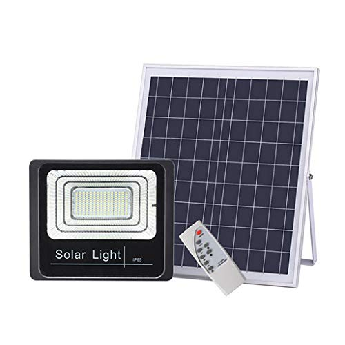 Sonmer Outdoor Waterproof Solar Light Sensor LED Security Light for Garden Garage Lawn Pool Fencing Pathway-Black,With Remote Control