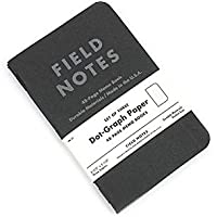 Field Notes Pitch Black Edition 3-Pack Dot-Grid Memo Notebooks