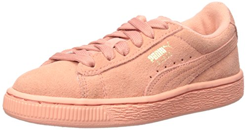 PUMA Suede Jr Classic Kids Sneaker (Little Kid/Big Kid), Desert Flower/Desert Flower, 7 M US Big Kid by PUMA