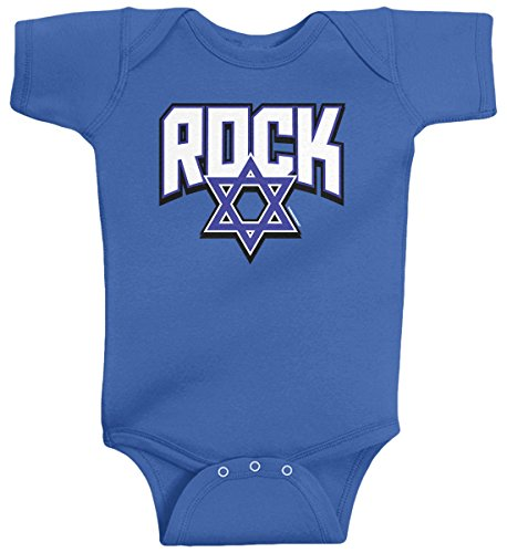 Threadrock Baby Boys' Jewish Rock Star Infant Bodysuit 6M Royal Blue ()