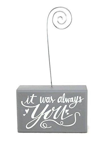 Collins It Was Always You Tabletop Photo Wire Clip Wood Block Photo Holder by Collins Fresh & Oringinal