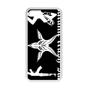 iPhone 5c Case,Satanic Ska Dark Horror Occult White Customized Phone Case For iPhone 5C