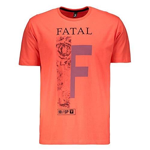 Camiseta Fatal Estampada Coral