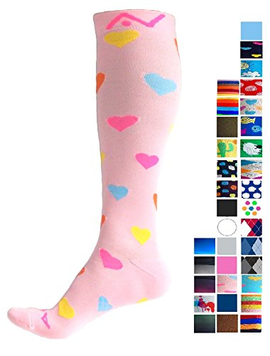 Performance One Compression Socks - A-Swift Performance Compression Socks (1 pair) for Women and Men by Sweet Love, Small
