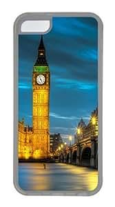 Amazing Belfry night Custom iPhone 5C Case Cover TPU Transparent