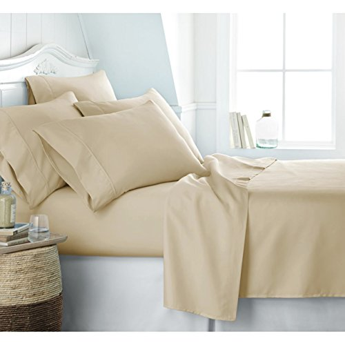 Egyptian Luxury 1800 Hotel Collection Bed Sheet Set - Deep Pockets, Wrinkle and Fade Resistant, Hypoallergenic Sheet and Pillow Case Set - (California King,Cream)