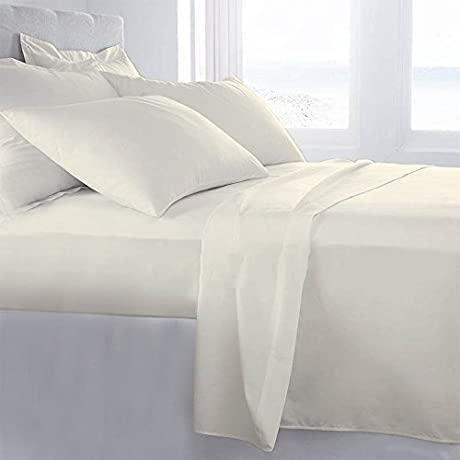 Lussona Collection 800 Thread Count 300 GSM 100 Egyptian Cotton Quality 5 Piece Comforter Includes 1 PC Comfoter 4 PCs Sheet Set 15 Deep Pocket Twin Ivory
