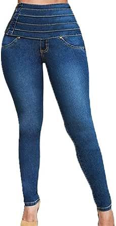 F/_Gotal Womens Jeans Butt Lift 5 Button High Wide Waist Bell Bottom Denim Pants Bootcut Jeans Sweatpants Jogger Jeggings
