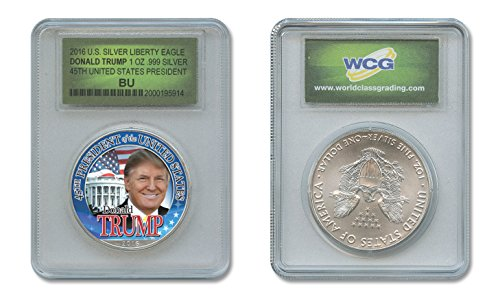 DONALD TRUMP 45th PRESIDENT 2016 1 oz American .999 Pure Silver Eagle SPECIAL (Pure Silver Proof Coin)