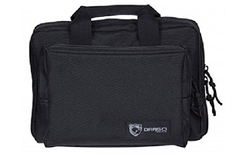 (Drago Gear Double Pistol Case, Black, 12.5
