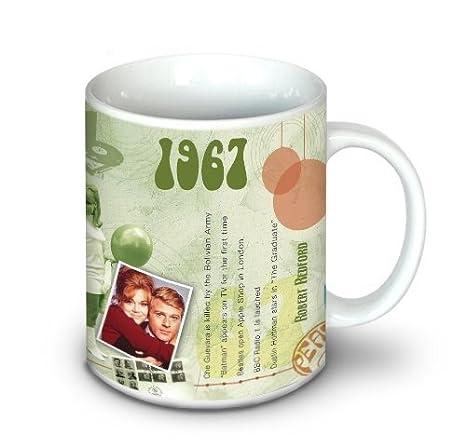Amazon.com: 1967 Cumpleaños taza de café regalo – 1967 ...