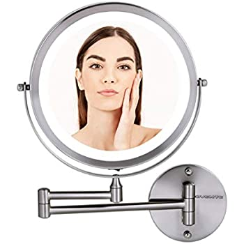 Amazon Com Ovente Wall Mounted Makeup Mirror 9 5 Inch