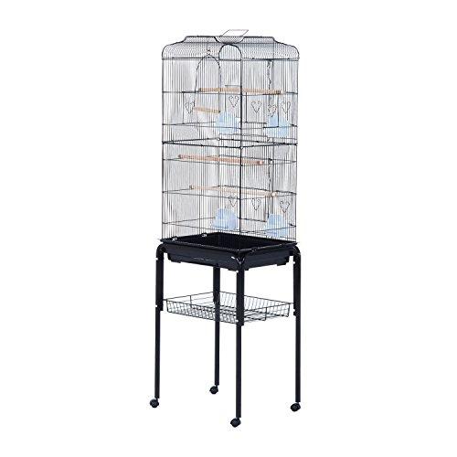 "PawHut 63"" Metal Indoor Bird Cage Starter Kit with Detachabl"