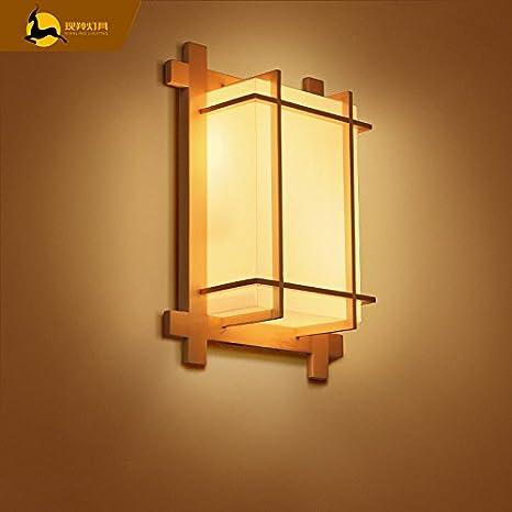 BESPD lámpara de pared Chino japonés minimalista decoración retro LED Creativas Apliques de Salón Restaurante Corredor escalera dormitorio cama lámparas con ...