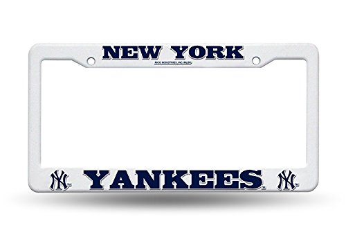 Rico Industries Official Major Baseball League Fan Shop Licensed MLB Shop Authentic Plastic Raised Letter License Plate Frame Auto Car SUV Trucks (New York Yankees)