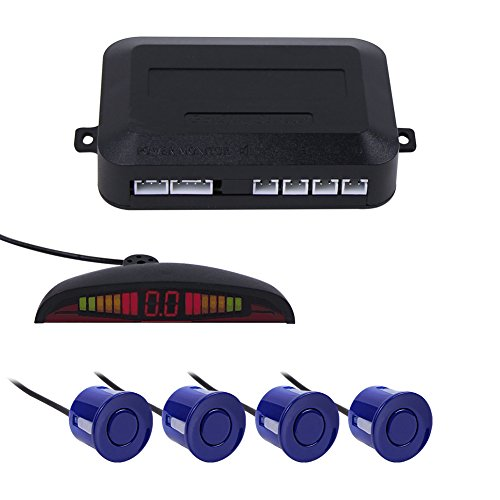 Reversing Sensor, Car Parking Sensor Kit LED Display 22mm Backup Monitor Parking System Reverse Assistance Parking Sensors with Double CPU High-volume Warning Buzzer 4 Parking Sensors Reversing kit (Circuit Rain Sensor)