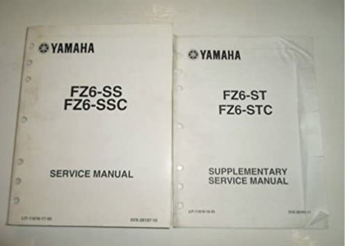 2004 2005 yamaha fz6 ss st fz6 ssc stc service manual 2 vol set rh amazon com 2005 yamaha fz6 service manual pdf 2005 fz6 owners manual