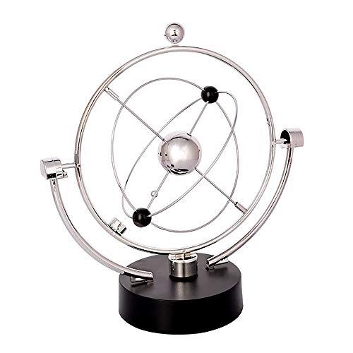Desktop Earth Globe Swivel Globe Orbit Spinner - Kinetic Orbital Revolving Physics Science Toy Gadget Ideal For All Offices,Educational Desktop World Globe for Kids Educational Gifts for Kids