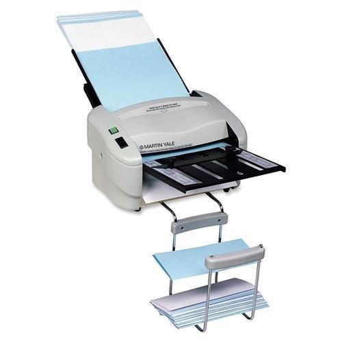 (Martin Yale P7400 RapidFold Auto Folder - 4000 Sheets/hour - Z Fold, Half-fold, Letter Fold, Double Parallel Fold - Gray)