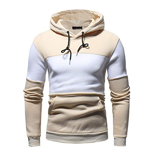 Men Hoodie Sweatshirt,Vanvler Male Autum Winter Fleece Coat Long Sleeve Tops Patchwork Outwear ()