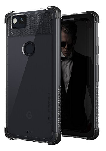 Google Pixel 2 Case, Ghostek Covert 2 Series Ultra Slim Clear Shockproof Protective Cover – Fingerprint Compatible for Google Pixel2 2017 | Black ()