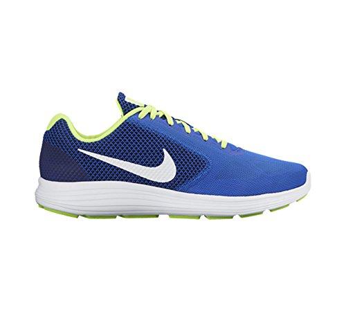 Nike Revolution 3, Zapatillas de Running para Hombre Azul (Azul (racer blue/white-volt-black))
