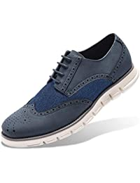 Men s Oxford Sneaker Dress Shoes-Stylish Wingtip Brogue Oxfords Formal Work  Shoes Classic Lace Up b78677a6417