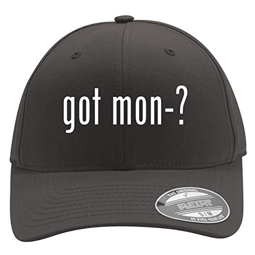 got mon-? - Men's Flexfit Baseball Cap Hat, Dark Grey, Large/X-Large