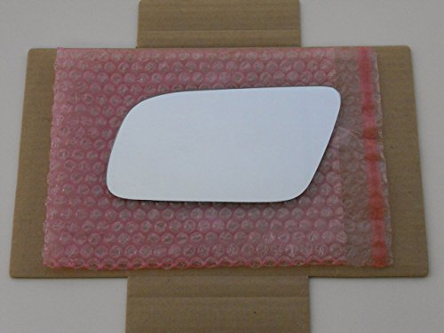 Quattro Driver Mirror Glass - HEATED Mirror Glass (Non-Blue) with BACKING PLATE for AUDI A4 A6 A8 S4 S6 S8 Driver Side View Left LHCHECK PICTURE AND SIZE IN DESCRIPTION - 2 OPTIONS AVAILABLE