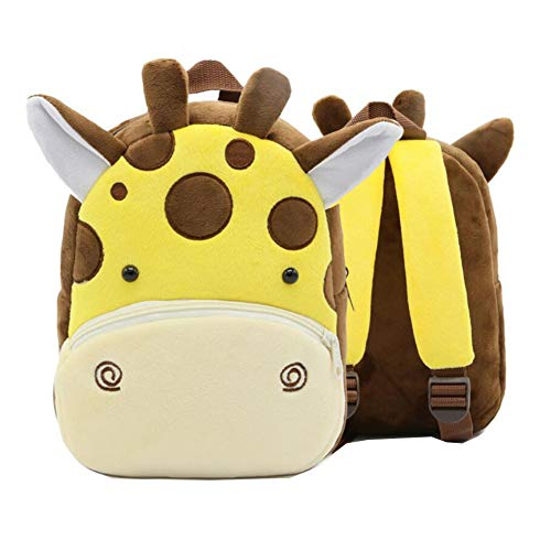 Süße Giraffe Kleinkind-Rucksack Kindertasche Tierkarikatur Kleine Reisetasche für Baby Girl Boy 2-4 Jahre alt Weihnachtsgeschenk Geburtstagsgeschenk F
