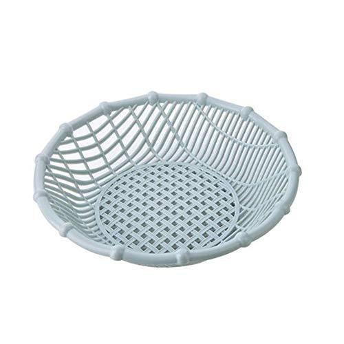- YYi-kuG Creative Hollow Fruit Basket Living Room Plastic Snack Plate Fruit Plate Candy Basket Kitchen Vegetable Basket (Color : Blue)