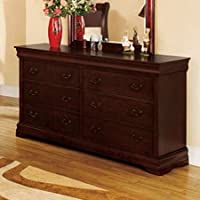 Laurelle Dresser in Dark Cherry Finish by Furniture of America