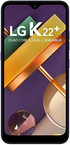 """Smartphone LG K22+ , 3GB Memória, 64GB armazenamento, Dual Chip Android 10 Tela 6.2"""" Quad Core 4G Câmera 13MP+2MP - Azul"""