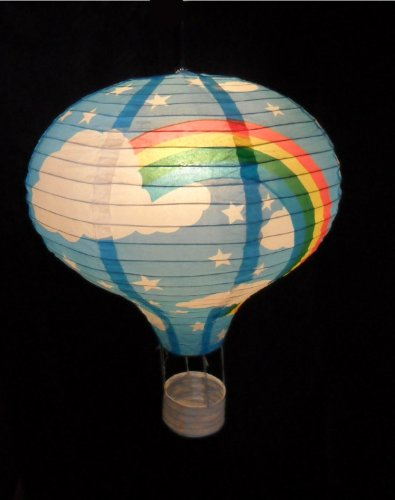 rainbow balloon light shade blue paper lantern bedroom fun lamp ebay. Black Bedroom Furniture Sets. Home Design Ideas
