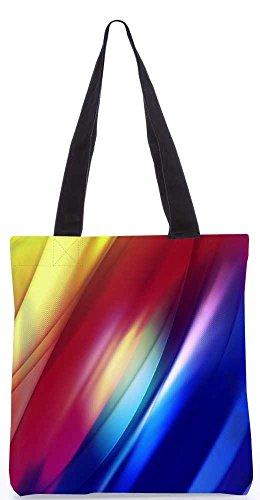 """Snoogg Mischfarbe Streifen Tragetasche 13,5 X 15 In """"Einkaufstasche Dienstprogramm Trage Aus Polyester Leinwand"""