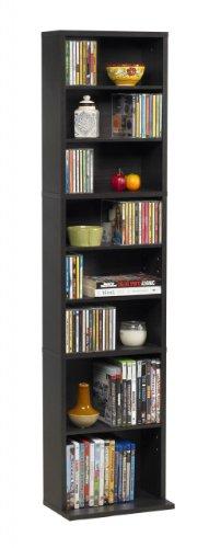 Atlantic Summit Adjustable Media Cabinet - Holds 261CDs, 114DVDs or 132 Blu-Ray/Games, 3 Fixed Shelf, 6 Adjustable...