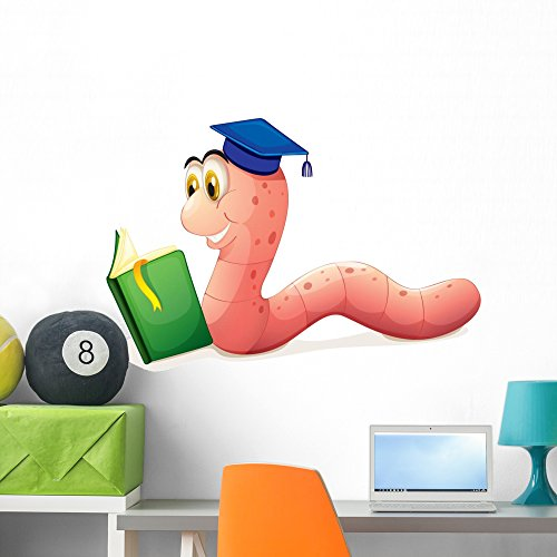 D D Character Record Sheet (Wallmonkeys Worm Reading Wearing Graduation Wall Decal Peel and Stick Graphic (36 in W x 25 in H) WM133516)